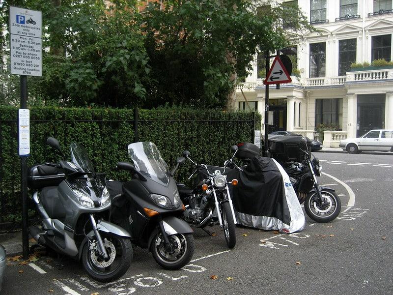 Motor parkeren londen